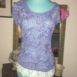 pretty sweater with lace trim small petite